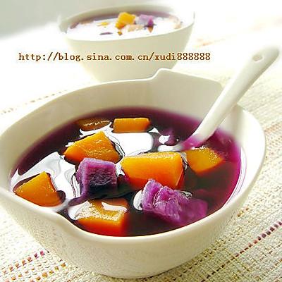 南瓜紫薯汤