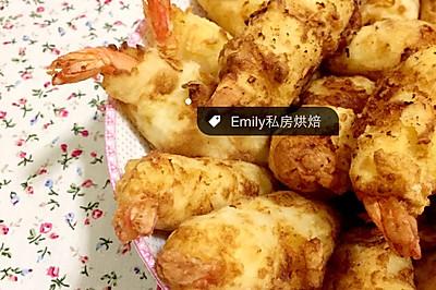 土豆泥炸虾排