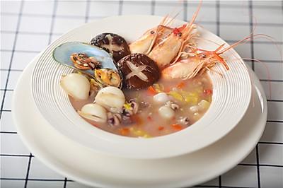 无调味高逼格蔬菜海鲜汤