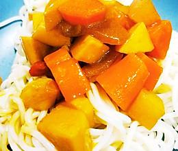 #美食视频挑战赛# 不加鸡块的咖喱土豆的做法
