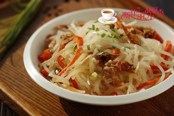 海米炒萝卜丝的做法