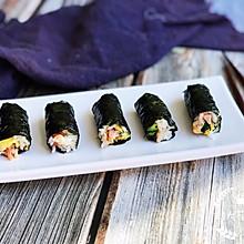 #晒出你的团圆大餐# 海苔版mini紫菜包饭