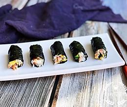 #晒出你的团圆大餐# 海苔版mini紫菜包饭的做法