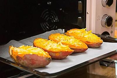 芝士焗红薯 绵软香甜,全家都爱