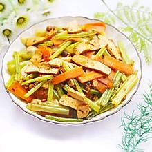 #520,美食撩動TA的心!#無敵下飯的芹菜炒香干