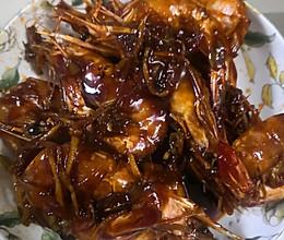 干㸆对虾的做法
