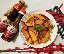蚝油腊肉炒冬笋,鲜味熏味不冲突的做法
