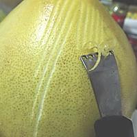 2分钟搞定又细又薄的柚子皮丝~蜂蜜柚子茶的做法图解4
