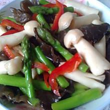 芦笋木耳蟹味菇