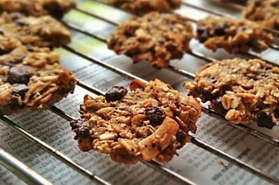 无油无糖健身必备--两种材料燕麦香蕉饼干two ingred