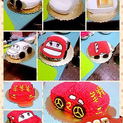 汽车蛋糕的做法 步骤12