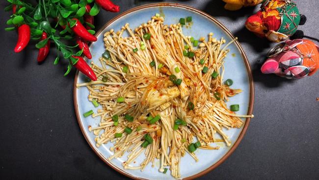 美味瘦身金针菇-桓桓爸出品#美味烤箱菜,就等你来做!#的做法