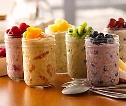 Ins最流行的overnight oatmeal 燕麦早餐的做法