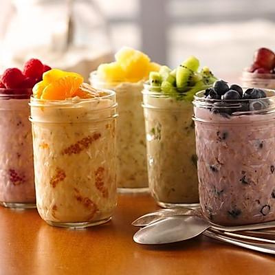 Ins最流行的overnight oatmeal 燕麦早餐