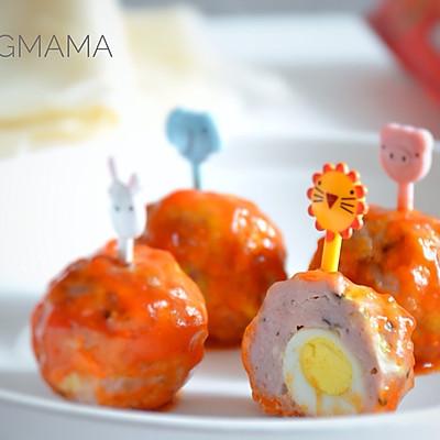 酸甜可口的鹌鹑蛋鲜菇小肉丸