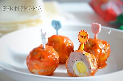 酸甜可口的鹌鹑蛋鲜菇小肉丸#十万个喂什么#