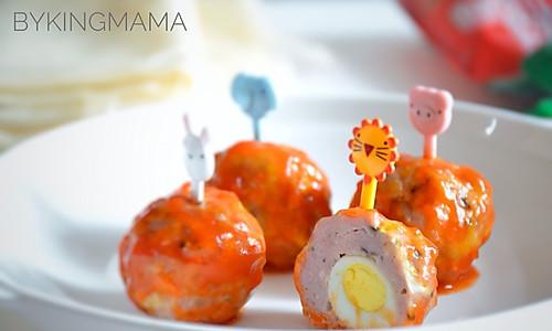 酸甜可口的鹌鹑蛋鲜菇小肉丸#十万个喂什么#的做法
