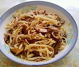 茭白香菇炒肉丝的做法