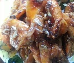 焦熘大虾的做法