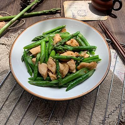 鸡胸肉炒芦笋