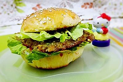 自制肉饼汉堡(一烤盘6个)