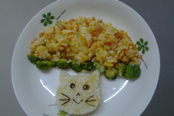 大脸猫炒饭的做法