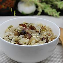 香菇腊肠焖饭#美的初心电饭煲#