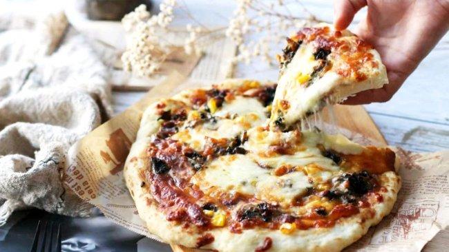 """#2021趣味披萨组——芝香""""食""""趣#梅干菜披萨的做法"""