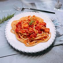 海鲜番茄意面