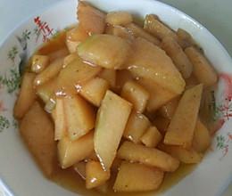 炒哈密瓜的做法