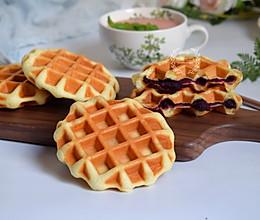 紫薯华夫饼#快手又营养,我家的冬日必备菜品#的做法