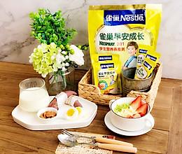 雀巢学生早餐:燕麦什锦粥的做法