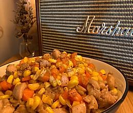 玉米粒炒鸡丁