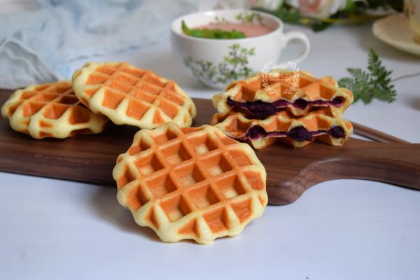 紫薯华夫饼的做法