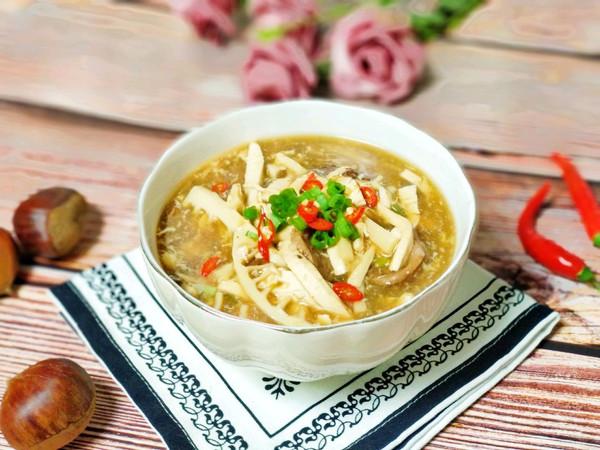 酸辣暖身开胃汤的做法