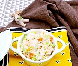 三文鱼烩饭的做法
