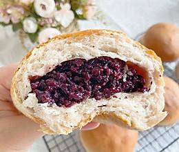 松软香甜❗️韧性十足的紫米面包,超好吃的做法