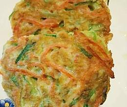 黄瓜胡萝卜丝鸡蛋饼的做法