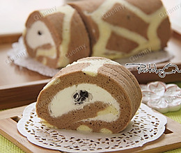 长颈鹿斑纹蛋糕卷的做法