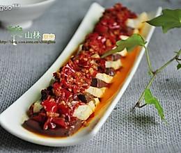剁椒蒸鸭血豆腐的做法