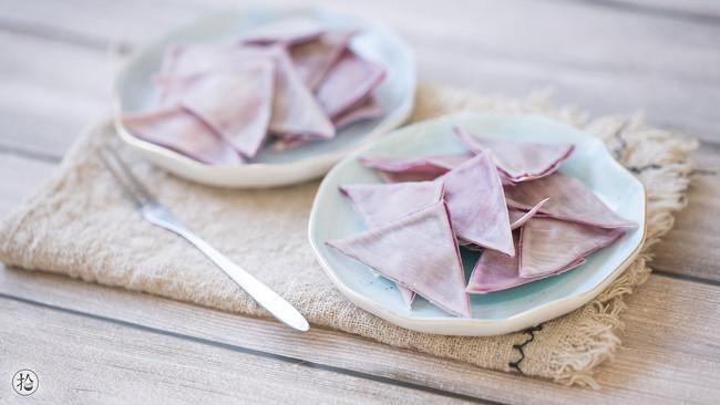 紫薯薄脆的做法