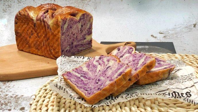 手撕紫薯吐司(一次发酵无需出膜)