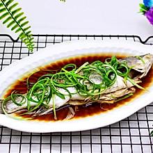 鲜美无比的粤式清蒸鲈鱼#网红美食我来做#