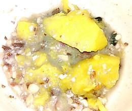 地瓜花生白菜汤(老年代的吃法)的做法