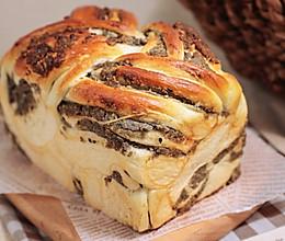 黑芝麻蓉手撕面包 --再也不用担心夏季做面包出现的bagel的做法
