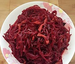 炒紫菜头丝的做法