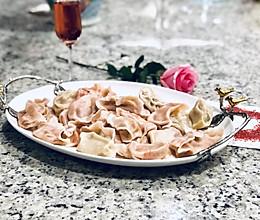 粉红人生 - 粉红大理石纹经典饺子的做法