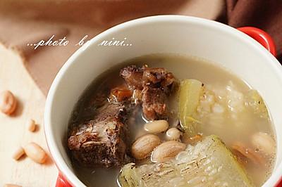 眉豆花生煲节瓜汤