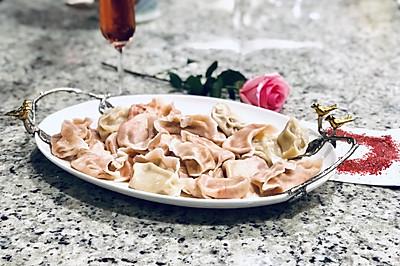 粉红人生 - 粉红大理石纹经典饺子