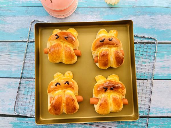 萌兔面包的做法